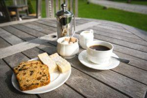 A snack in Tyddyn Llan gardens
